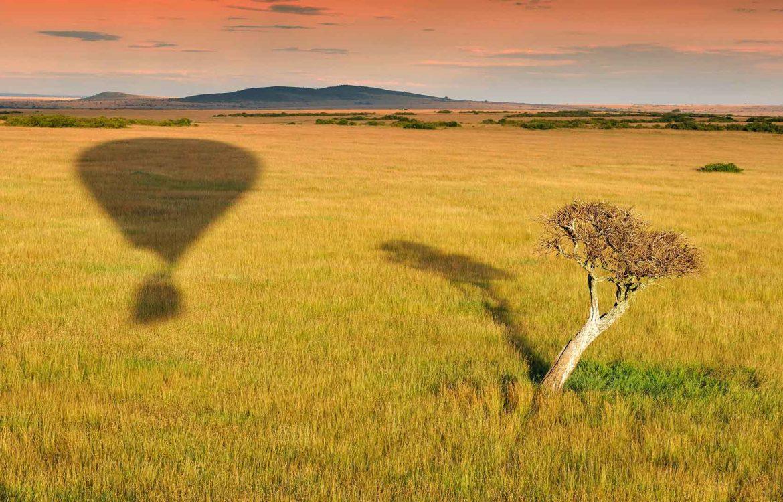 Ballon fahren in Kenia